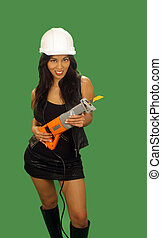 Beautiful Asian Female Construction Worker 2 - A lovely...