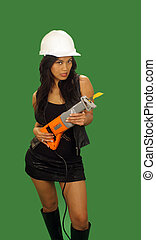 Beautiful Asian Female Construction Worker 1 - A lovely...