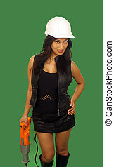 Beautiful Asian Female Construction Worker 3 - A lovely...