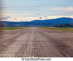 Runway of the Zurich international airport