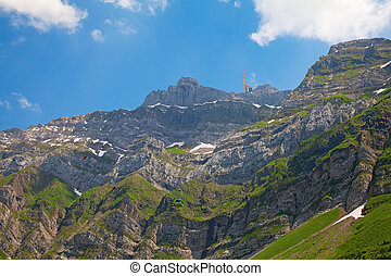 Cable car in alps