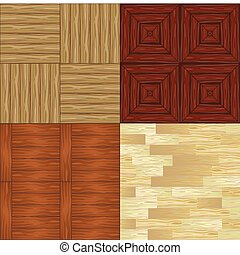 set of seamless textures of parquet
