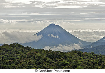 Arenal Volcano - The Arenal Volcano towering over the...