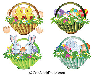 Easter baskets set