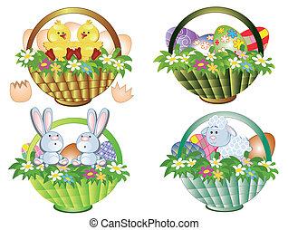 Easter baskets set