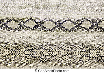 Snake pattern - Black and white wild snake skin pattern