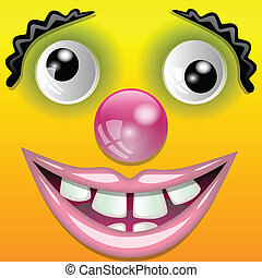 The smiling clown - Illustration of a smiling clown as a...