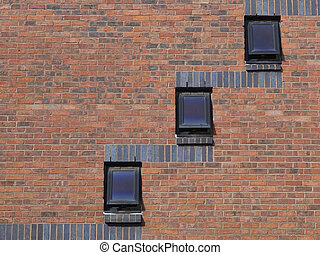 architectural background with a modern brick wall and...