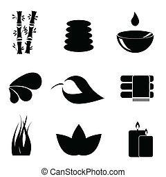 Spa items icon set - Spa and relaxation icon set