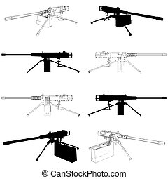 Browning Machine Gun Vector