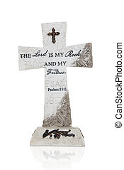 Religious Cross - A religious cross with bible verses over...
