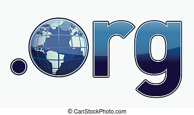 Dot ORG Domain Name Address illustration isolated over a...