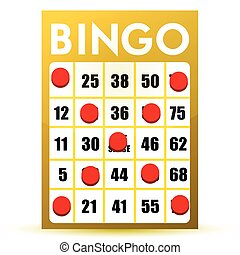 winner yellow bingo card illustration isolated over a white...