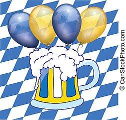 bavarian beer and balloon