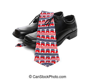 Republican Business Man Theme - A business mans shoes and a...