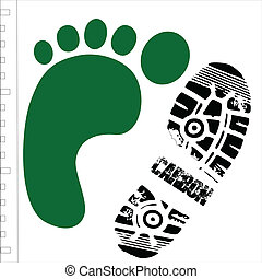 carbon shoe with footprint
