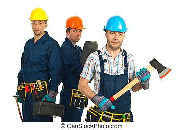 Constructors, trabajadores, equipo