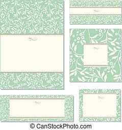 Vector Floral Ivy Frame Set - Set of ornate vector frames...
