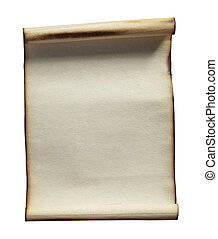 grunge note paper - close up of grunge note paper on white...