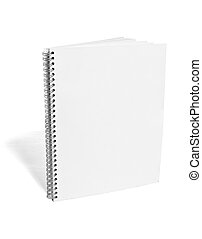 white blank notebook template - close up of a blank white...
