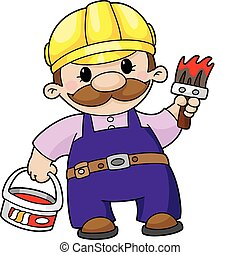 house painter - Illustration of the house painter