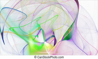 Seamless loopable abstract fractal flame HD background