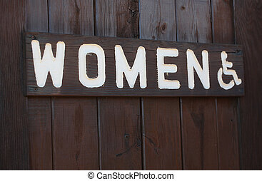 women\'s, 印,  restroom