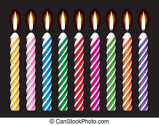 vector set of colorful birthday can