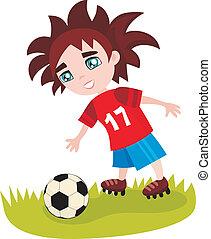 soccer - vector illustration of a soccer