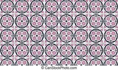 Seamless tile pattern of ancient ceramic tiles.