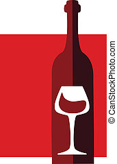 wine and glass vector design template2