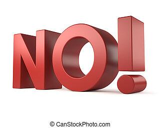 big 3d word - no!