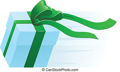 Fast Present Gift Concept - A very fast gift zooming along...