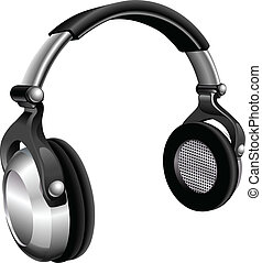 Large DJ Headphones - A vector illustration of a large pair...