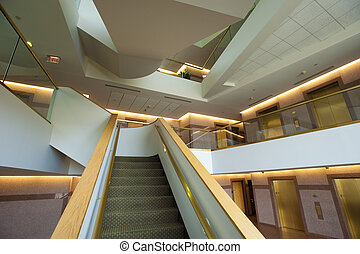 Modern staircase - Staircase in lobby of a commercial or...
