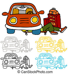 Car Repair and Maintenance - An image of a auto repairman...