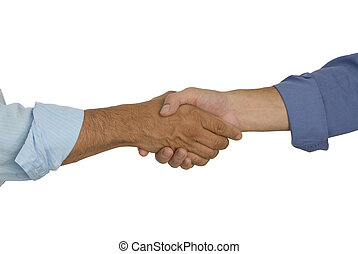 Shaking Hands - Closeup of Business People shaking hands...