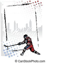 ice hockey vertical frame - illustration of the ice hockey...