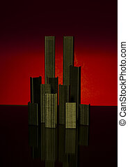 abstract memorial to 9-11 terrorist attack - abstract 9-11...