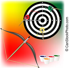 art target - on a colored background target, in which...