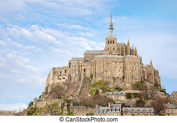 Le Mont Saint Michel - Le Mont Saint Michel, Normandie,...