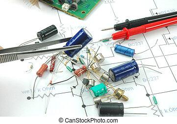 Capacitor in tweezers