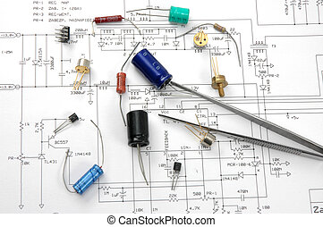 Electronic components and electronic scheme