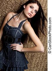 Beautiful Fashion Girl - Beautiful young fashion model girl