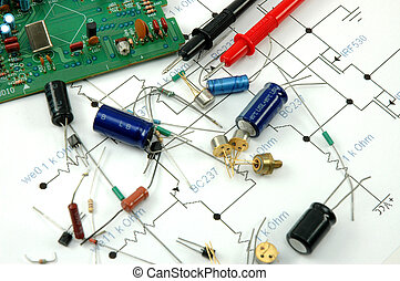 Electronic components, circuit board and scheme