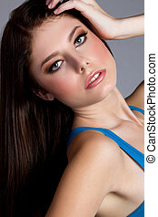 Blue Eyed Girl - Pretty young blue eyed girl