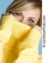 Yellow Sweater Woman