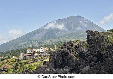 Pico volcano, Azores - Pico volcano in Pico island, Azores,...