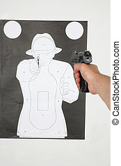 Shooting range - shooting range - shooting at the target