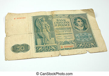 Old money - Polish old paper money